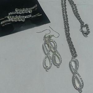 Jewelry - Australia crystals gemstone hair pins with